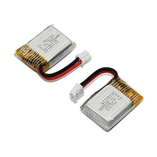 Panboo 3,7V 200mAh Lipo Akku Batterie für Eachine E010 E011 JJRC H36 H67 NH010 REDPAWZ R011 Tiny Whoop(2 Akkus)