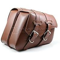 pligh (TM)–Borse da sella moto marrone in pelle borsa degli attrezzi bagagli laterale Mochila Moto per Harley Sportster XL 8831200D20