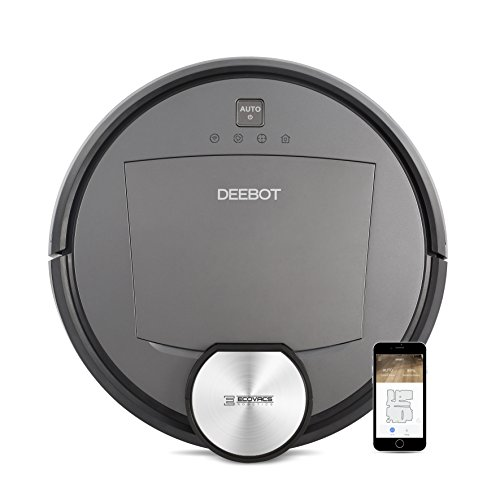 Ecovacs Robotics DEEBOT R95MKII Floor Cleaning Robot with Intelligent Navigation/Laser Mapping and App, Black