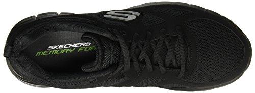 Burns Agoura Sneaker Skechers uomo Sport, Carbone Black/black
