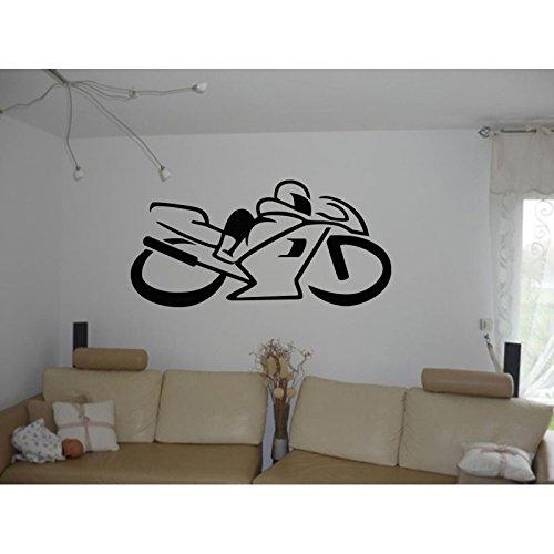 Aufkleber Silhouette von Moto Running, silber, L 200cm x H 100cm (Running-silhouette)