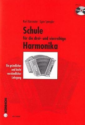 Schule Fuer die Drei + Vierreihige Steirische Harmonika. Handharmonika