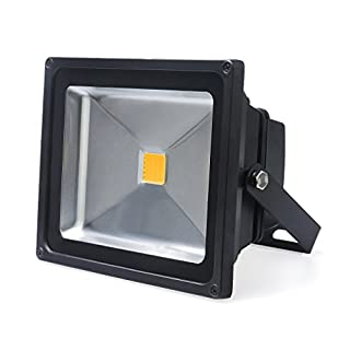 Auralum® Energy Saving 20W IP65 LED Waterproof Floodlight High Power Warm White(3000K) Outdoor Spotlight Black