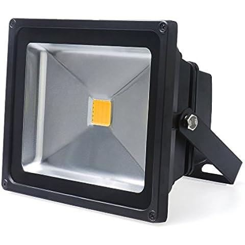 Auralum® 20W Foco LED Proyector de Luz Lámpara IP65 Impermeable Iluminación Interior y Exterior del jardín al aire libre, patio, terraza. Blanco cálido