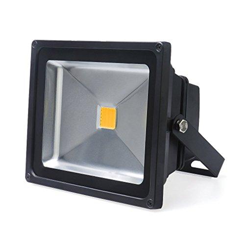 Auralum Faro Faretto da Esterno, 20W IP65 230V a LED Bianco Caldo Floodlight Proiettore Esterno Impermeabile per Illuminazione e Abbellimento in casa, giardino, hotel, paesaggio ecc