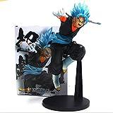 Dragon Ball Z Gogeta Cabello Azul Oscuro Vegeta Son Goku Fusion Super Saiyan Chocolate Figura de Acción Com PVC DBZ Modelo 25cm