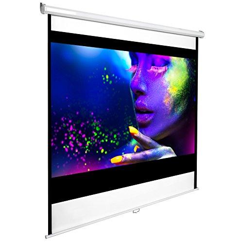TecTake Schermo per proiezione 110' 203x203cm home cinema videoproiettore 16:9 4:3 HD TV