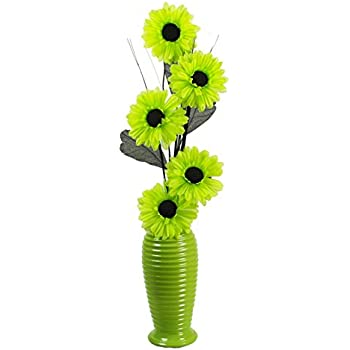 Flourish 706708 814 lime green vase with pea green silk artificial flourish 706708 814 lime green vase with pea green silk artificial flowers in vase fake mightylinksfo