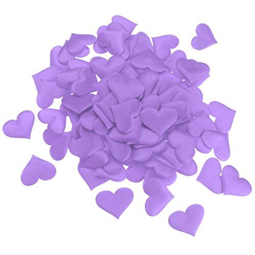 Baoblaze 100tlg. Liebe Herz Konfetti Romantik Valentinstag Hochzeit Deko in verschiedenen Farben - Lila 5cm
