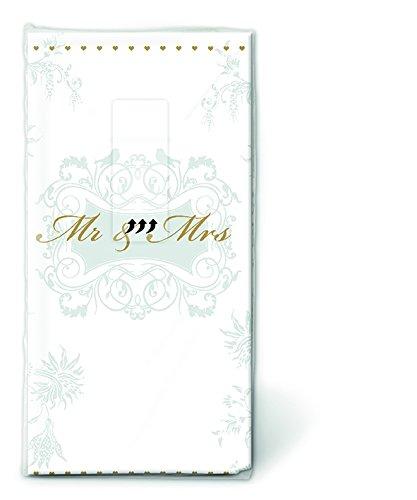 PAPER+DESIGN Motiv Taschentuch FSCMix Mr. Mrs. gold