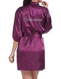 WPFING Dentelle Chemise de nuit de mariage pour la mariée nuptiale  Polyester Bride chemise de nuit 129cb19e64c