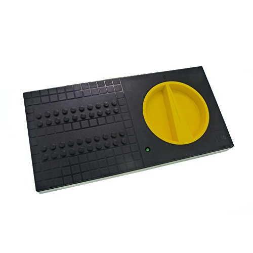 Bausteine gebraucht 1 x Lego System Electric Elektro Trafo 9 V - 10 V Geschwindigkeits Regler schwarz gelb alt-hell grau Eisenbahn Transformator Train Technic geprüft für Set 4548 2868b - Elektro-regler