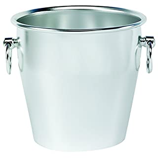 Pentole Agnelli Buffet Anodized Smooth Heavy Champagne Bucket, Colour-Silver, One Size