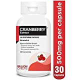 BILLIONCHEERS Cranberry Capsules for Urinary Tract Health Support, Cranberry Extract 500mg per capsule