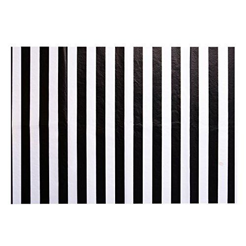 Stripes Seidenpapier Stripes Einwickelpapier, 28 Zoll x 20 Zoll, 30 Blätter (Schwarz und Weiß) (Schwarz Und Weiß-thema Hochzeit)