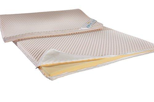 PROCAVE Viskoschaum Topper 150x200 cm mit Noppen-Doppeltuch | Memory Visco Schaum | Matratzentopper | Viscoschaumtopper | Viscoelastische Matratzenauflage | Boxspringbetten