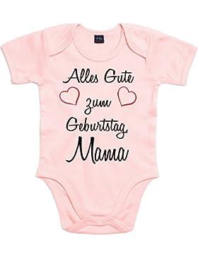 Mister Merchandise Baby Body Alles gute zum Geburtstag, Papa Mama Oma Opa Strampler Bodysuit liebevoll bedruckt