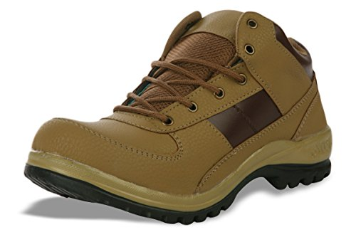 Shoe Island Male Tan Brown Synthetic Ankle Length Shoes -10 UK  available at amazon for Rs.495