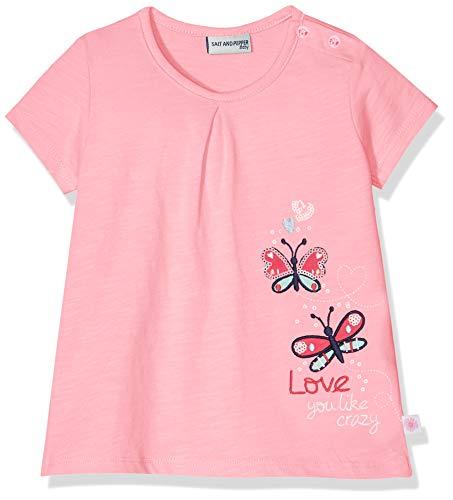 SALT AND PEPPER Baby - Mädchen B T-Shirt Wild Uni Stick T-Shirt,per Pack Pink (Candy Rose 857),74