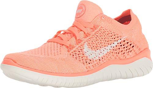 Nike Frauen Free Rn Flyknit 2018 Low & Mid Tops Schnuersenkel Laufschuhe Orange Groesse 7.5 US /38.5 EU (Frauen-volleyball-schuhe Nike)