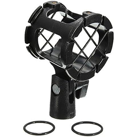 Generic Pro micrófono suspensión escopeta choque montaje abrazadera condensador titular Clip < 1& 2026* 1>