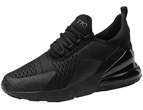 GNEDIAE Uomo AIC 270 a Collo Basso Scarpe Sportive Scarpe da comode Sneaker da Corsa Traspirante Scarpe da Fitness Scarpe da Corsa Leggere Nero 45 EU
