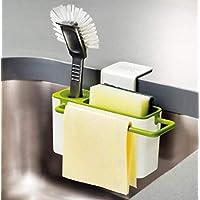 Qsoleil Regalo de Cocina Caja de Almacenamiento para Fregadero de Cocina Rag Drain Rack Kitchen Gadget (Verde)