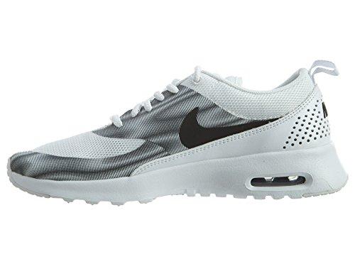 Nike Wmns Air Max Thea Print Scarpe da Ginnastica, Donna Blanco (White / Black-Cool Grey)