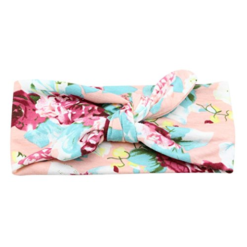 Baby Bow Hairband Koly Girls Photography Toddler Flower Print Knot Cross Headband Baby Hair Accessories