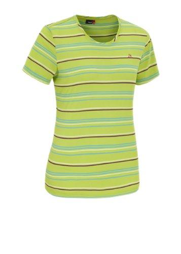 Maier sports 252004_404 Kansas T-shirt à manches courtes pour femme Vert - green / blue / lilac stripe