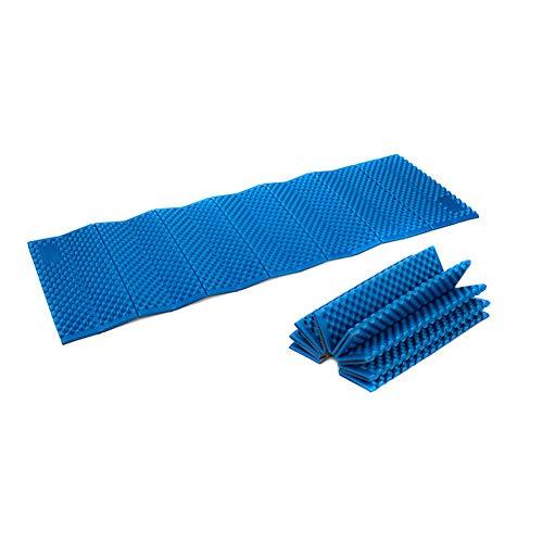 Domeilleur 1 Stück Eierkasten Design Outdoor Zeltbett feuchtigkeitsabweisend Pad Ultraleicht Schlafmatte faltbar blau
