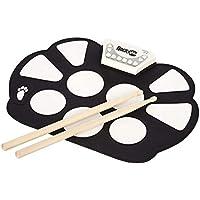 LQH - Kit de almohadilla electrónica portátil profesional de silicona, plegable, con bastón, función de grabación, gran regalo para los niños principiantes