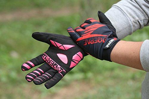 Lerway Winter MTB Handschuhe Gepolstert Race Fahrrad Handschuhe Sporthandschuhe für Radsport ,Outdoor Sport Mountainbike Damen und Herren Gloves (L, Rot)