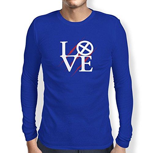 TEXLAB - Mutant Love - Herren Langarm T-Shirt, Größe M, marine