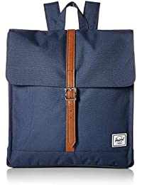Herschel 10486-00007 City Mid-Volume Navy/Tan Synthetic Leather, 32.5x12.7x35.5 cm/14 l