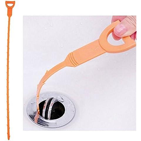 Vultera (TM) di serpente a forma di Sink Cleaner Bagno Toilette Cucina di scarico intasato Rimuove Capelli spazzola di pulizia per negozio Home