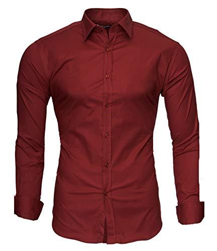 Kayhan Langarmhemd A.L.T Rotwein 6XL Shirt Jeans Weste Jacke
