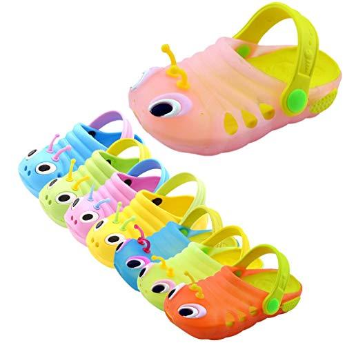 Dorical Süß Karikatur Caterpillar Hausschuhe Sommer Unisex Kleinkind Baby Jungs Mädchen Mädchen Indoor-Schuhe Sandalen Strand Sandalen Flip Schuhe Strandschuhe Badezimmer (2.5-3 Jahre, Z01-Rosa) (Kleinkind Schuhe Mädchen)