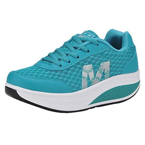 ☀NnuoeN☀ Scarpe da Ginnastica Donna Casual Stringate Tennis Piattaforma Running Sneakers Fitness Sportive Zeppa Outdoor Scarpe Passeggio