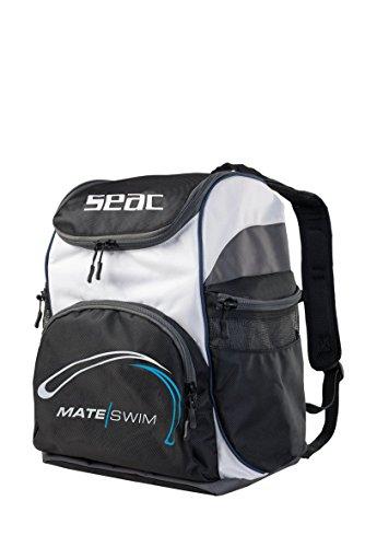 SEAC Schwimmrucksack Mate Swim Backpack, schwarz/weiß/grau, 25x35x45 cm, 39 Liter