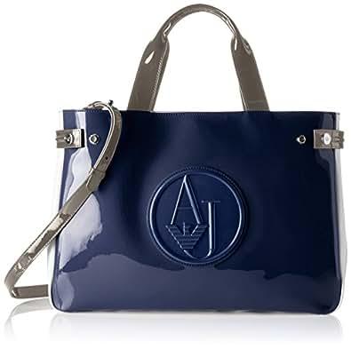 Armani Jeans 922548CC852, Borsa con Maniglia Donna, Multicolore (Multicolore (Blu/Bianco/Tortora)), 12x27x40 cm (B x H x T)