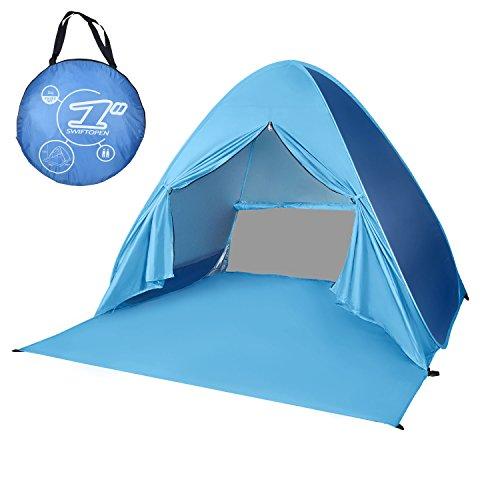 Kinder Spielzelt Camping Zelt ,Chenci Wurfzelt Strandmuschel Automatische pop up Strandzelt mit UPF 50+ Sonnenschutz 90% UV-Schutz für Familien im Freien, Gras, Strand, Garten, Party, Camp, Picknick