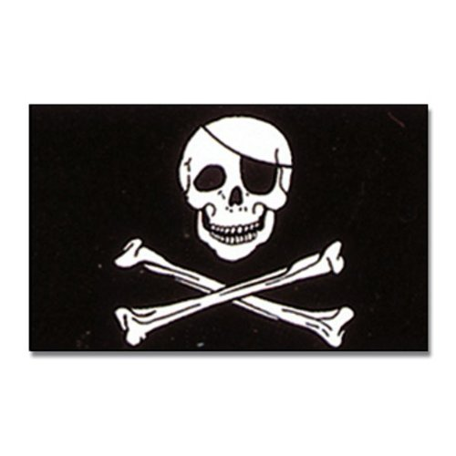 Flagge Pirat mit Knochen 90 * 150 cm Fahne