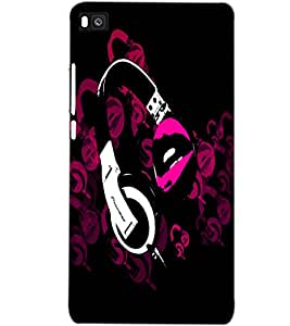 HUAWEI P8 HEADPHONE Back Cover by PRINTSWAG