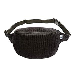 Bauchtasche, Cord breit schwarz, Hip bag, Umhängetasche, fanny pack, belt bag, shoulder bag,