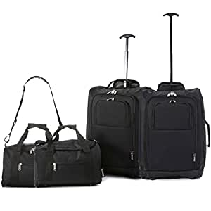 Set of 4 - 2x Ryanair Cabin Approved 55x40x20cm & 2x Second 35x20x20 Hand Luggage Set - Carry On Both items!