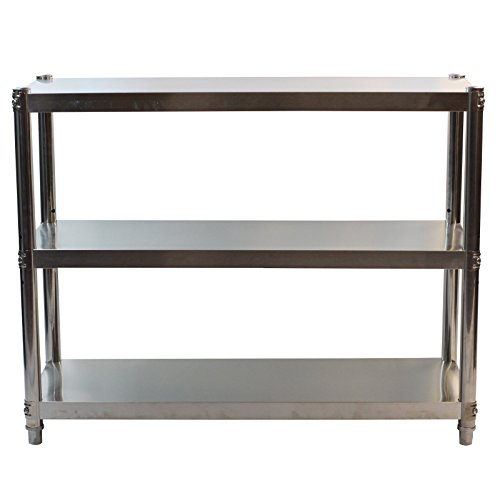 GoldbearUK Edelstahl Küche Regal-hygienischen Küche Storage Lösung-3Etagen, Small 60x80cm -