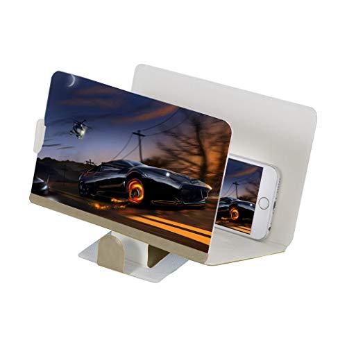 CAOQAO Stereoskopische verstärkende 12 Zoll-Desktop-Holzhalterung des Telefon-Bildschirm-Vergrößerungsglases