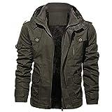 DNOQN Jacke Herren Mode Jacke Reine Farbe Reißverschluss Stehkragen Outwear Atmungs Mantel Tops Herren Jacke Herbst Sportliche Winterjacke Herren