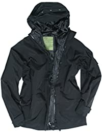 Mil-Tec Men's Wet Weather Trilaminate Jacket Black